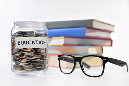 Image on concept of saving money for education